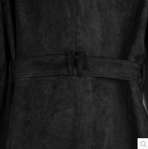 Cachemire Black En Outerwar Pardessus Hiver 6xl De Nouveau Automne Moyen La Plus Daim army Double S Vêtements Hommes Masculin long Peau Tranchée Taille Green Breasted Bw8I4yqF