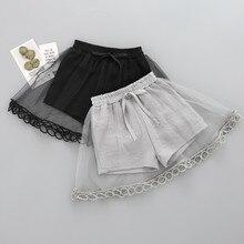 Summer Skirts for Girls Lace Kids Tutu Skirt Gray Black Chil