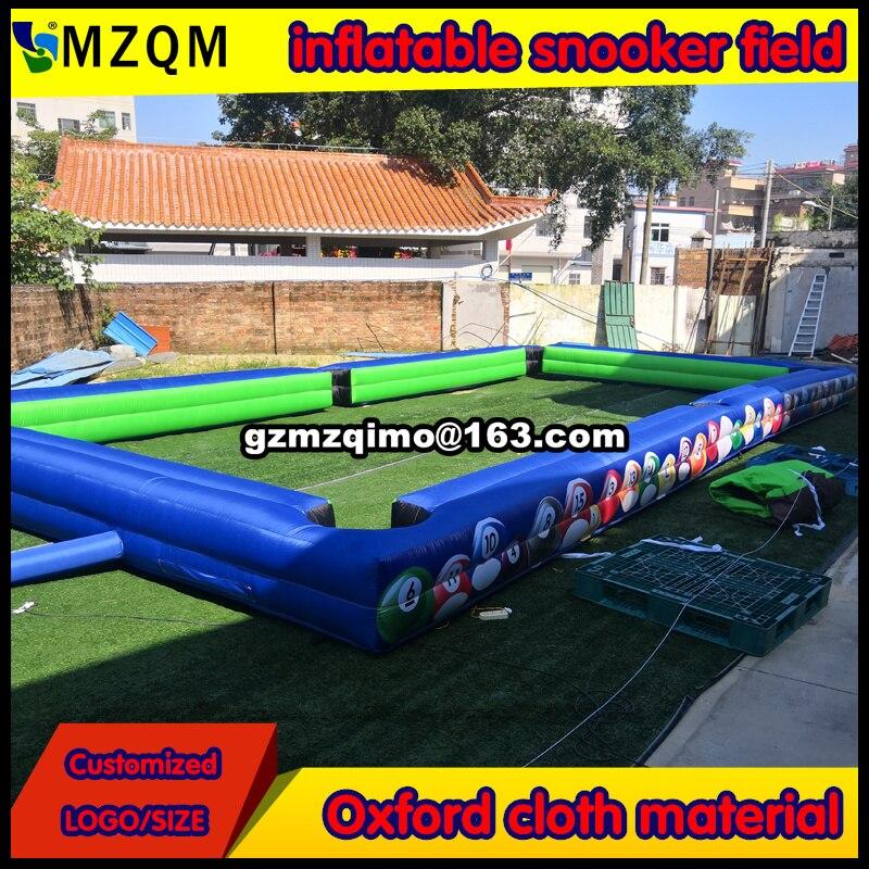 Envío de puerta a puerta Campo de billar inflable viene con bolas de billar/Cancha de mesa inflable de fútbol portátil