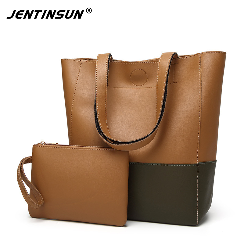 Fashion Women's Handbag Large Capacity Casual Tote Bag With Purse PU Leather Ladies Shoulder Bags Famous Brand Bolsas Feminina simply classic fashion leather women handbag shoulder bags ladies large capacity ladies shopping bag bolsa