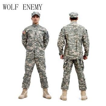 AS Tentara Angkatan Laut Bdu CP Multicam Kamuflase Setelan Militer Seragam Taktis Combat Airsoft Farda Hanya Jaket & Celana