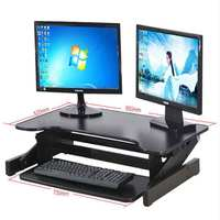 Desk Height Adjustable Table Desk For Computer Or TV Standing Home Office Computer Work Space Sit