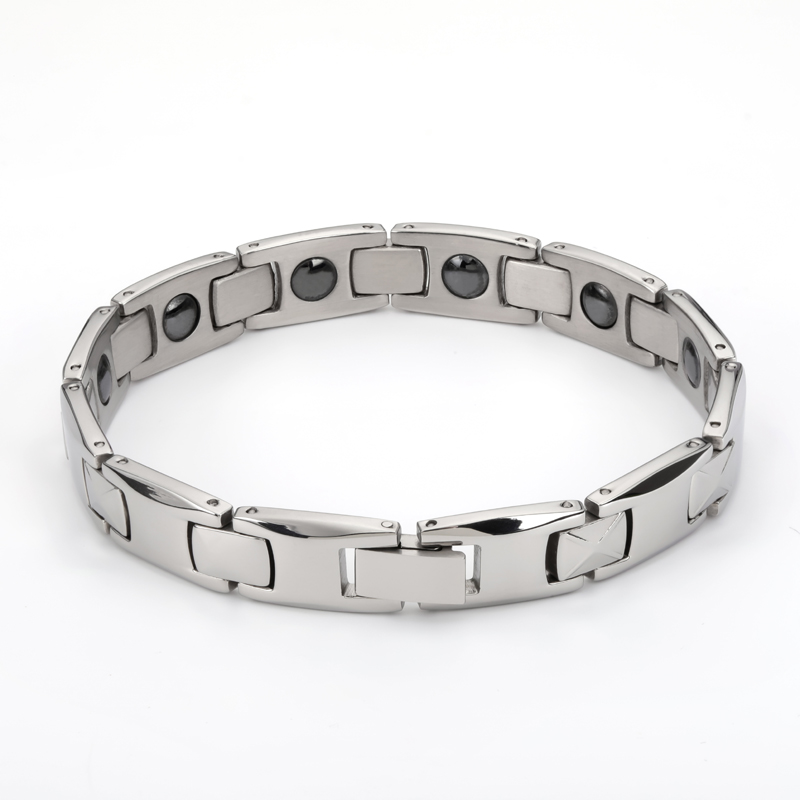 2019 Fashion man Bangles bracelets for men bijoux titanium 316L stainless steel Jewelry charm therapy magnetic bracelet (1)