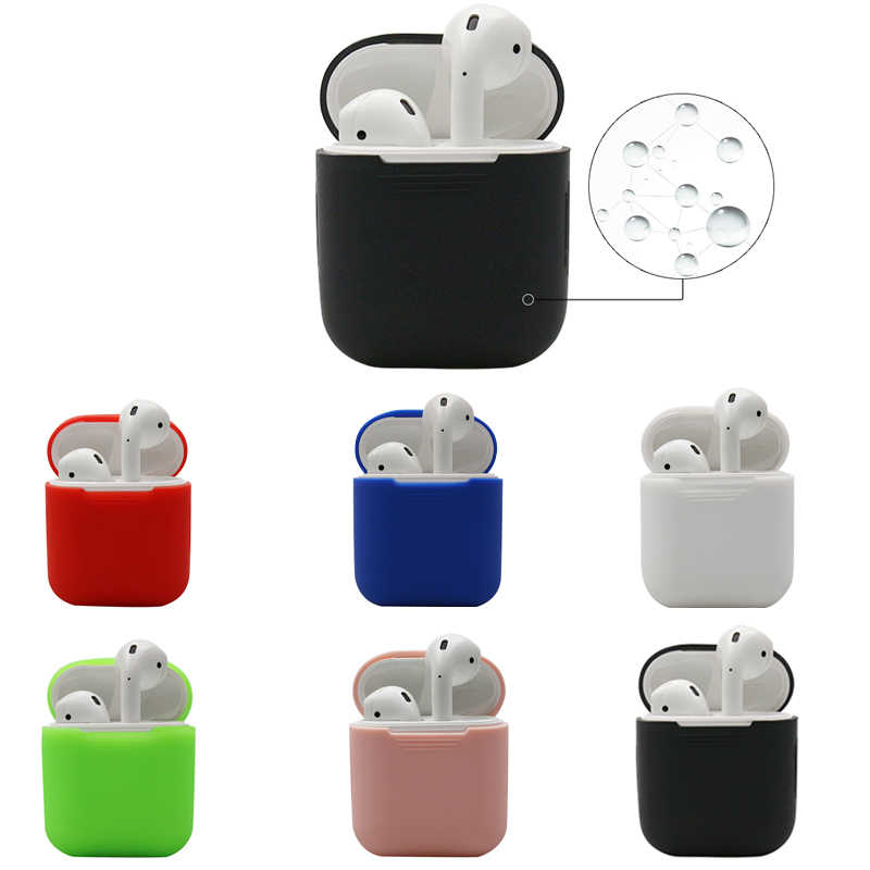 1PCS TPU Silicone Bluetooth Wireless Earphone Case For AirPods Protective Cover Skin Accessories for Apple Airpods Charging Box
