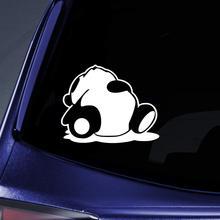 Bargain Max Decals - Sleeping Panda JDM Drift Sticker Decal Notebook Car Laptop 5 (White)