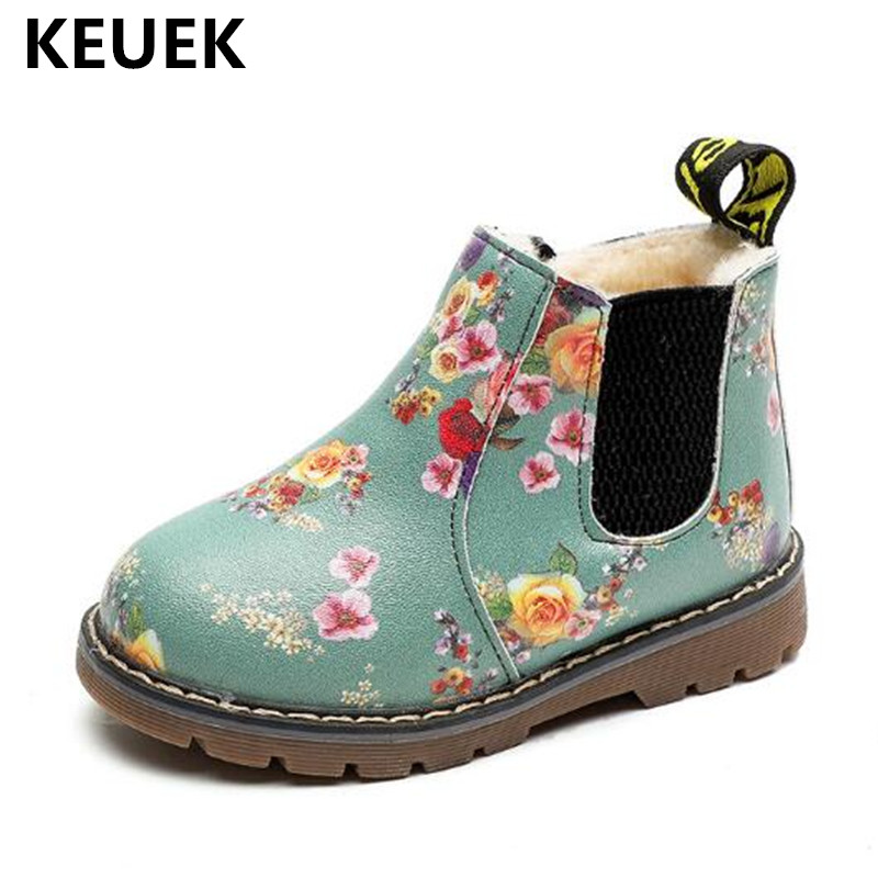New Winter Snow Boots Children Boys Girls Printing Leather Boots Baby Toddler Shoes Kids Warm With Plush 03