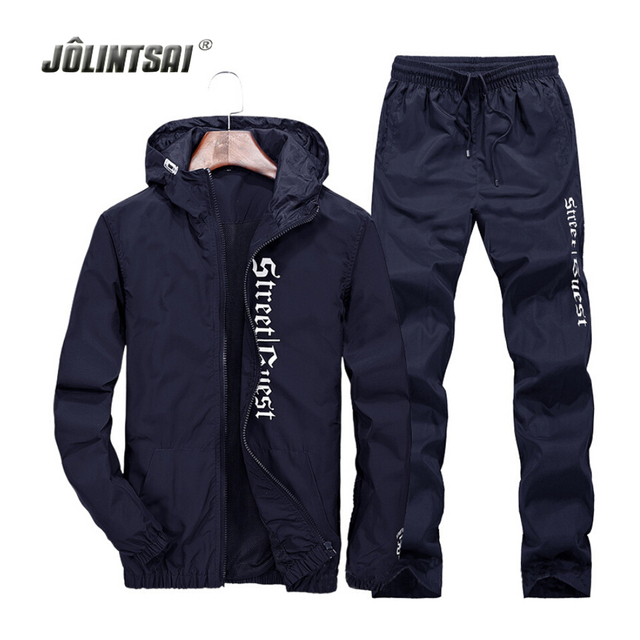 Casual Breathable Tracksuit Men Polo Sweat Suit 2017 Plus Size 4XL Hoodies&Sweatershirts+Sweatpants Set Men Hoody Tracksuits