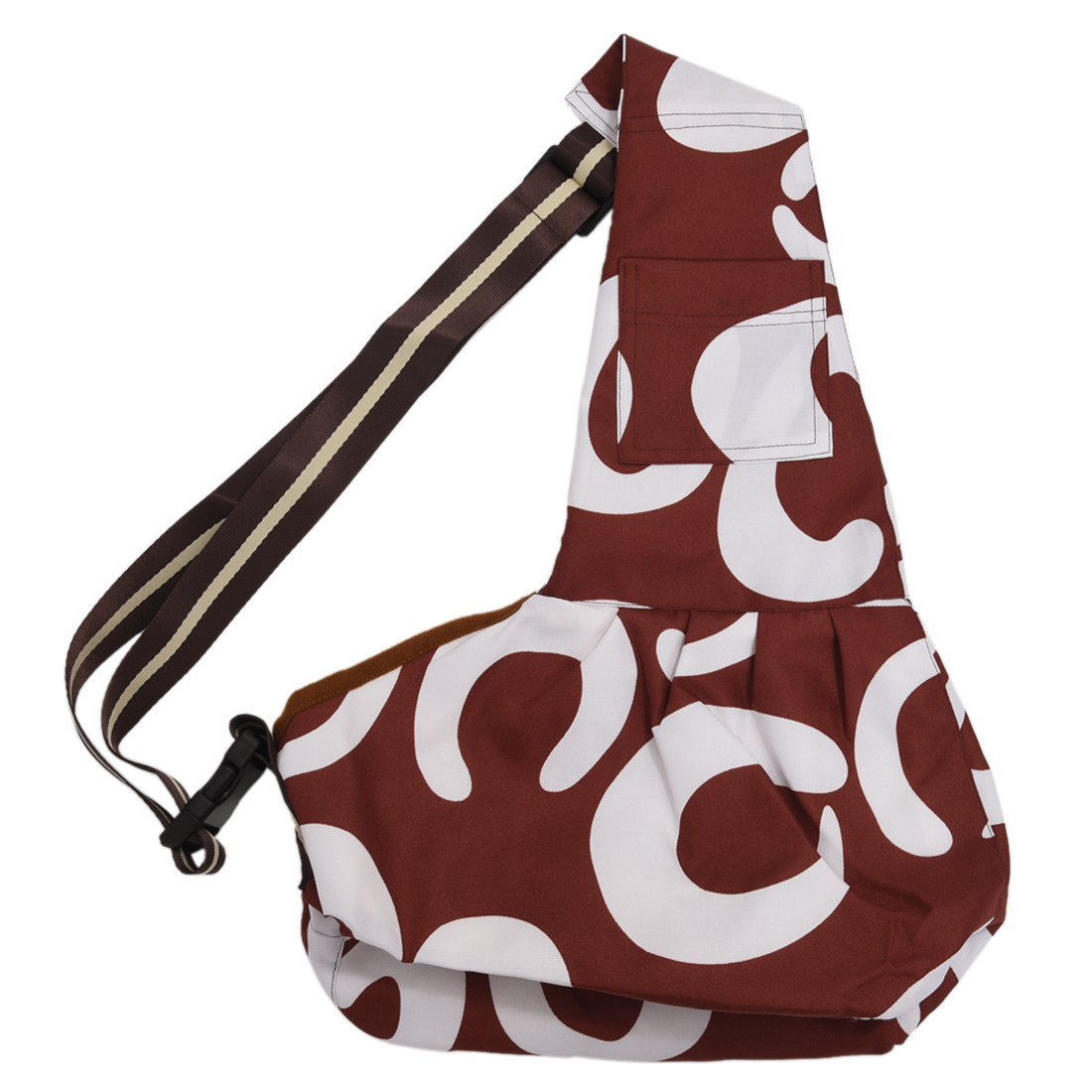 5) TEXU  Bandolier bag Carrying bag for Pet Oxford Animal Bag FOR Cat Dog Brown pet carrier bag for cat dog medium size brown