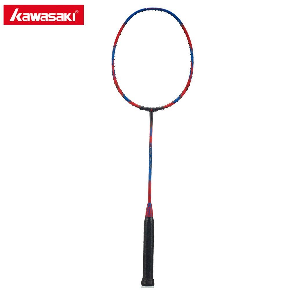 Kawasaki Super Light 580 Light Weight Badminton Racquet 30T Aerofoil Frame Sports Badminton Racket 100% Carbon Damping Handle new arrival arc10 5u 77g super light badminton racket 100% carbon black white badminton racquet traning racket