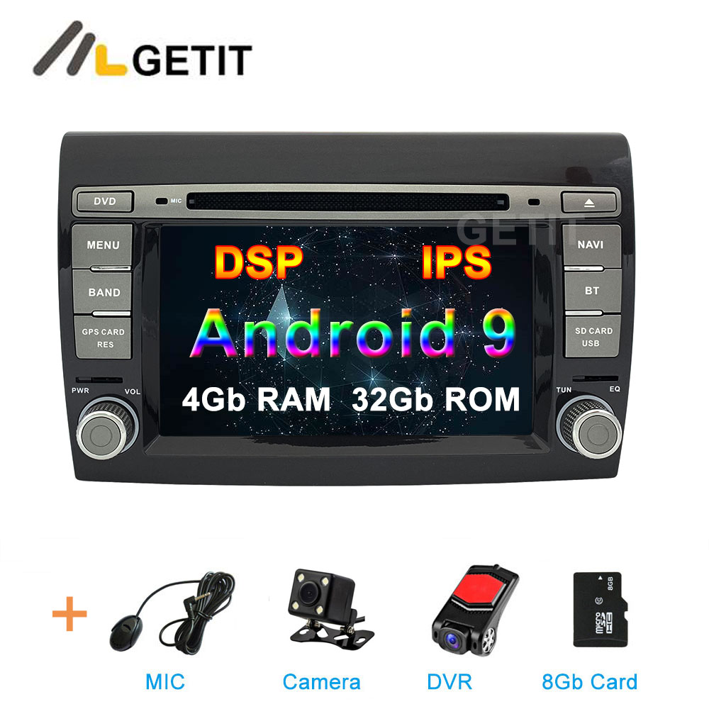 DSP IPS Android 9 Car DVD multimedia Radio for Fiat Bravo 2007 2012 Car stereo GPS