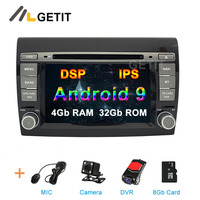 DSP IPS Android 9 Car DVD multimedia Radio for Fiat Bravo 2007 2012 Car stereo GPS Navigation