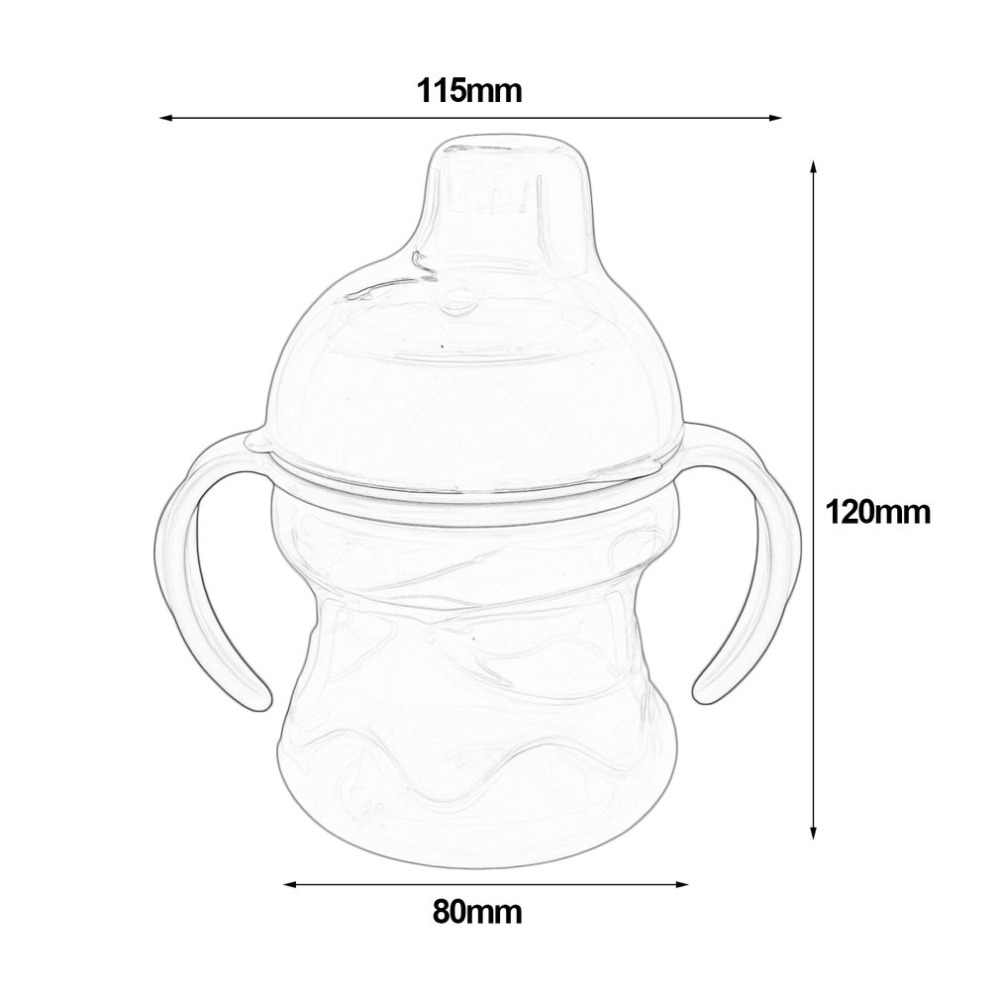 Sippy герметичная безопасная бутылка с мягким ртом для детей, для малышей, для обучения, питьевые бутылки, контейнер для молока