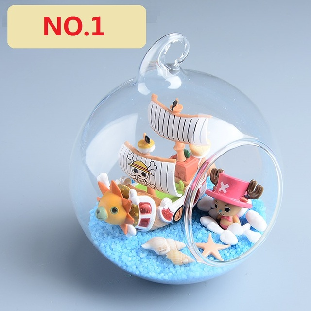 Artware Handwork With One Piece Theme Glass Ball Christmas Birthday Gift Desktop Decoration Cute Children