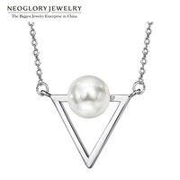 Neoglory Weiß Simulierte Perle Design Mode Halsreifen Anhänger Halsketten für Frauen Weihnachtsgeschenke 2018 New Indian Jewelry