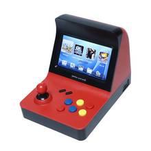 Powkiddy a8 레트로 아케이드 콘솔 게임 콘솔 게임기 내장 3000 클래식 게임 게임 패드 컨트롤 av out 4.3 인치 scree