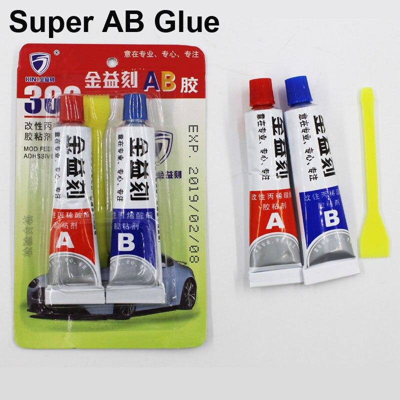 4Pcs Liquid Strong Super AB Glue 302 Metal Wood Fabric Rubber Leather Plastic UV Adhesive Cyanoacrylate Epoxy Office