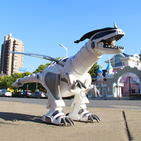 Children's remote control dinosaur toy Intelligent simulation animal will walk electric Tyrannosaurus robot 4 6 year old boy