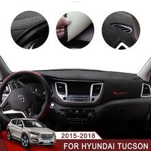 For Hyundai Tucson 2015 2016 2017 2018 LHD Car Dashboard Avoid Light Pad Instrument Platform Desk Cover Mat Carpets Accessory стоимость