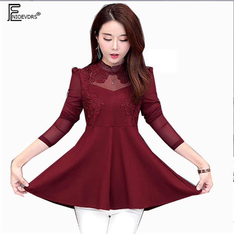 7cd4a814d51 Осень-зима основные рубашки блузки Для женщин Корея Дизайн Топ элегантный  леди живота туника блузки