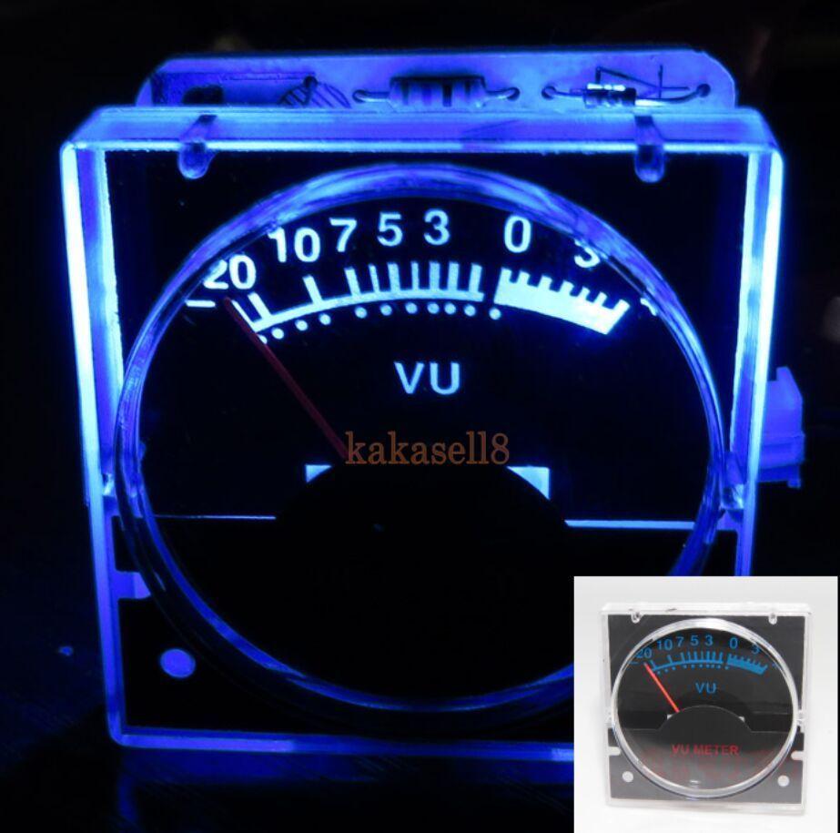 Analog Vu Meter : Pcs v analog panel vu meter audio level blue back