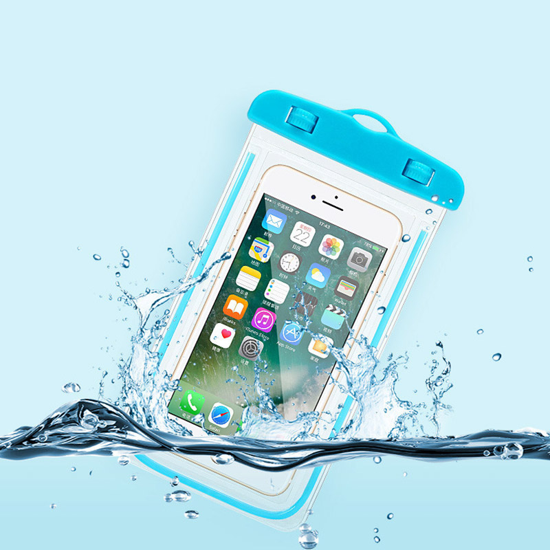 Universal Waterproof Phone Pouch For Samsung Galaxy S4 mini i9198 GT-i9190 GT-i9192 / S4 mini plus i9195i GT-i9195 Luminous Case