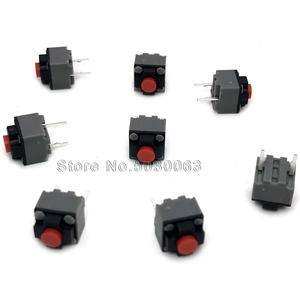 10pcs/lot KAILH square silent mute mouse micro switch button 2pin can replace rectangular micro-motion(China)