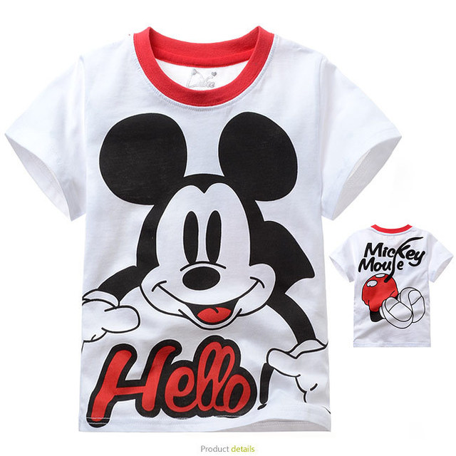 Free shipping mickey children's T-shirt for boy for summer for wholesale only