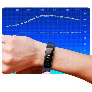 Image 3 - Huawei Honor Band 4 bandes 5 0.95 pouces AMOLED couleur écran 5ATM étanche Posture de bain détecter la fréquence cardiaque sommeil Snap