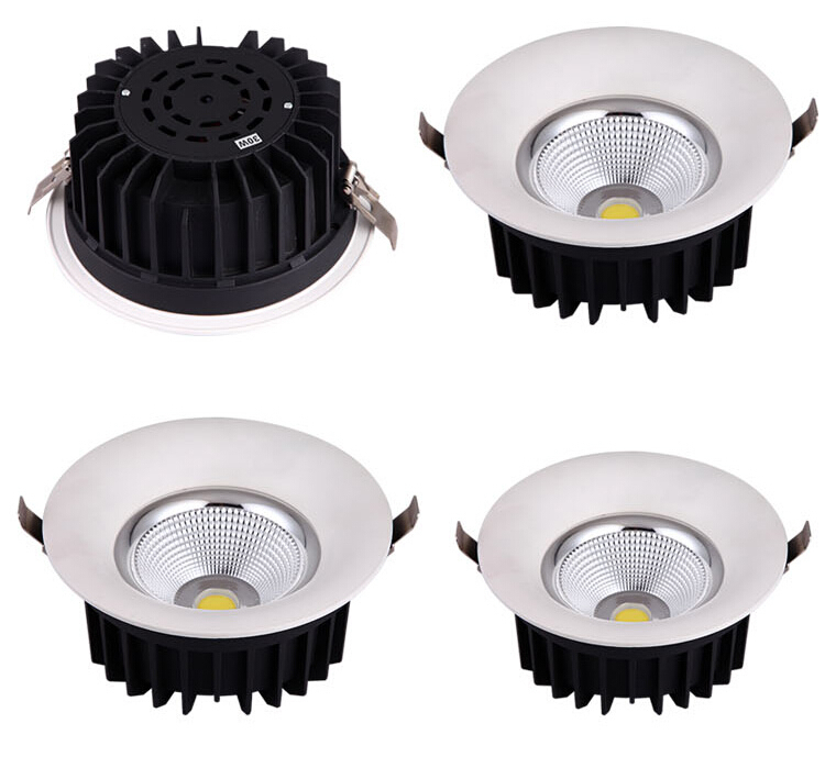 ФОТО 2015 High Quality  LED COB Downlights 25W 30W LED Recessed Lights Warm White/Cool White White Shell CE&ROHS+Driver