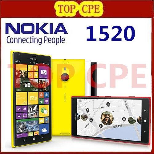 Nokia Lumia 1520 Mobile Phone 6 0 IPS 32GB Quad Core 2 2GHz 2GB RAM 20MP