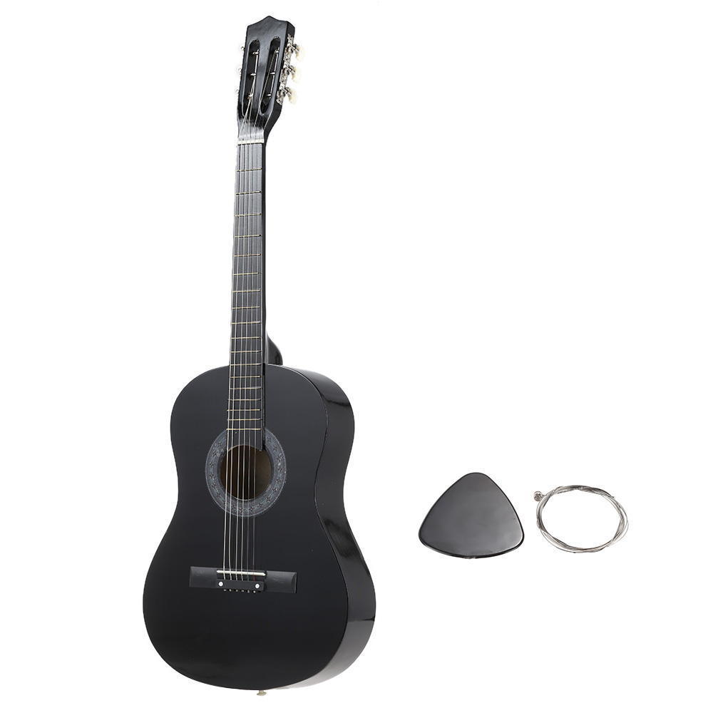 top quality 6 string folk acoustic guitar durable basswood 38 guitar for beginners students. Black Bedroom Furniture Sets. Home Design Ideas