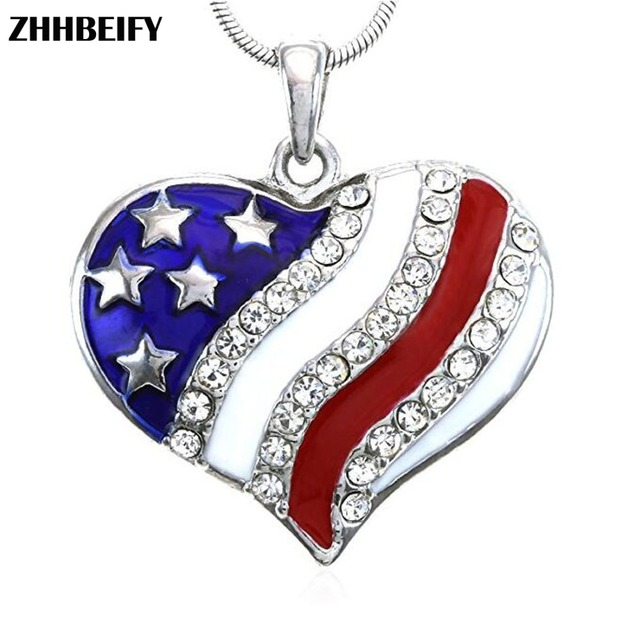 Drop Shipping 4th Of July Jewelry Patriotic Red White Blue American