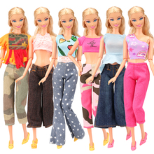 Doll Clothes Leisure Mix Styles 30 Items/Set=10 Pants+10 Coats+10 Shoes Random Pick For Barbie Doll Accessories Girl Best Gift random mix 15 pcs set dollhouse miniature food cake donucts macaroons ice cream for barbie doll mini doll accessories
