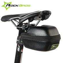 ROCKBROS Carbon Patrón A Prueba de agua Al Aire Libre Deportes Para Todos Bicicleta Ciclismo Alforjas Tija de Sillín Ciclismo Ciclo Portátil Caso