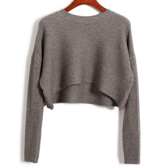Edgension New 2018 Spring Fashion High Waist Short Crop Sweaters ...