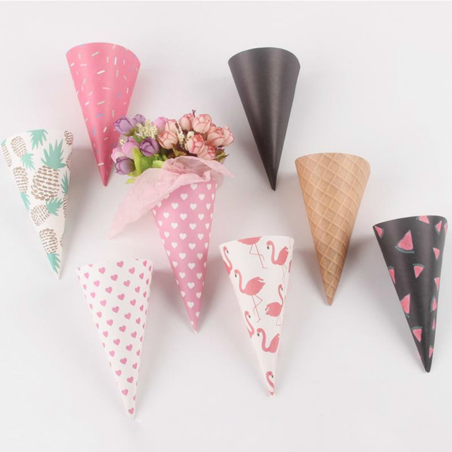 20pcs ice cream cone flowers wrapping paper gift packaging paper 20pcs ice cream cone flowers wrapping paper gift packaging paper flower cones holder bouquet wedding decoration mightylinksfo