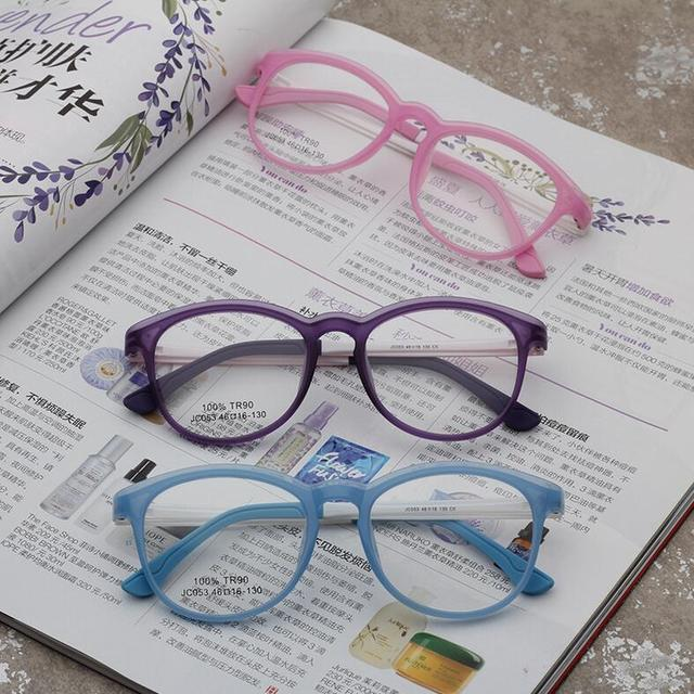 f270620a60b Fashion 100% TR90 Children Optical Glasses Frame Ultralight Kids Eyeglasses  Cute Eye Glasses Frames For Boys Girls Clear Eyewear