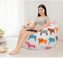 The Cartoon Pig style Bean Bag Chair Garden Camping Beanbags covers Lazy Sofa Anywhere Portable Sitting Cushion 90×90 cm