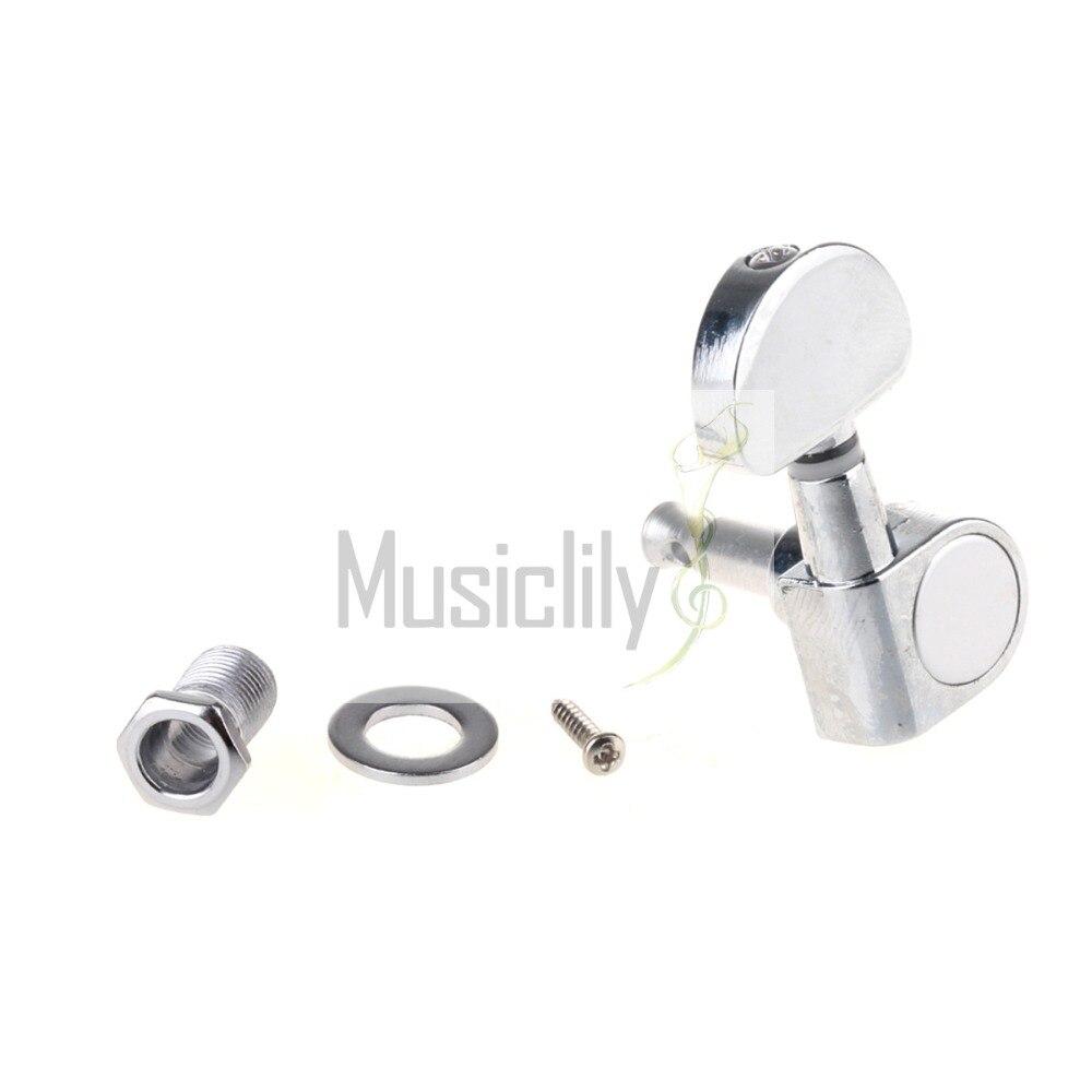 Chrome Half Moon Button Guitar Sealed String Tuning Peg Key Machine Head Tuner Right Hand 5 resistive touch screen win ce 5 0 gps navigator w bluetooth fm transmitter 4gb usa map tf
