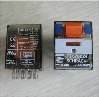Spot SCHRACK TE/Tektronix PT570024 24VDC/6A Relay