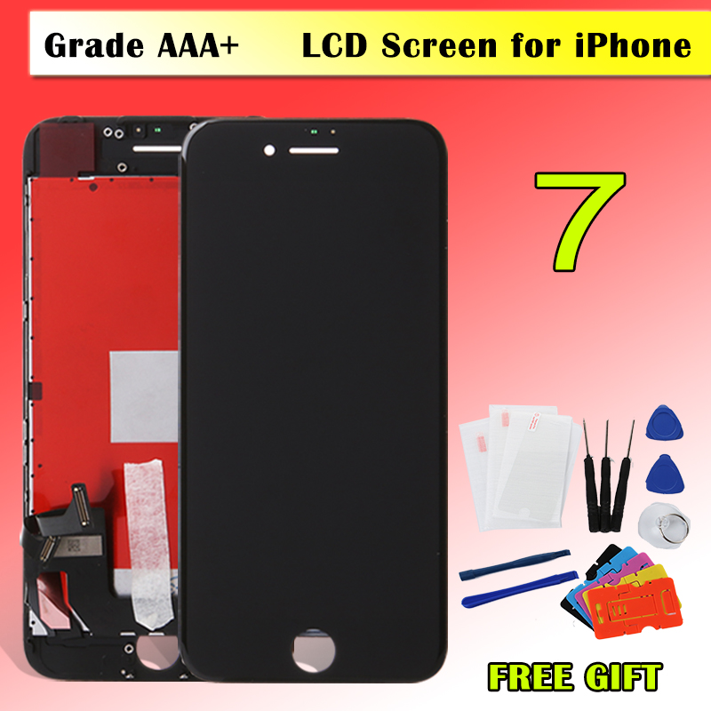 Black White OEM Grade AAA+ Quality Replacement LCD Display For Apple iPhone 7 LCD Touch Screen Digitizer Assembly Free Shipping