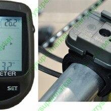 Цифровой 8 в 1 ЖК-дисплей подсветка велосипедный альтиметр компас Велоспорт барометр термометр Температура погоды+ держатель для велосипеда
