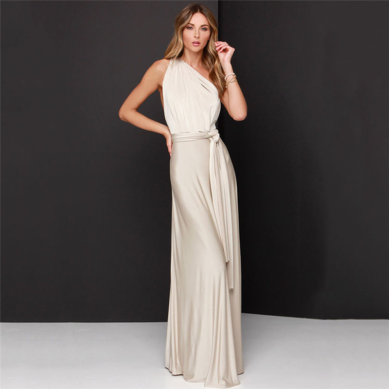 Summer Women's Multiway Dresses Sexy Bandage Bridesmaid Maxi Infinity Boho Long Dress Casual Club Party Dress Multicolor