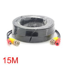 15M/49FT BNC DC Connector Power Audio Video AV Wire Cable For CCTV Camera