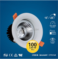 4 inch commercial recessed 9w downlight,CE SAA FCC safety lamp clothing shop,hotel, residential lighting 100lm/W