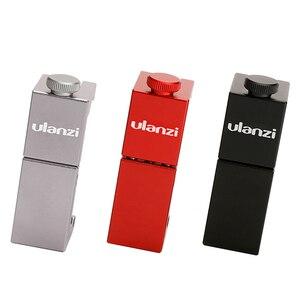 Image 2 - Ulanzi ST 02S 65MM bis 95MM Stativ Telefon Montieren mit Kalten Schuh 1/4 Schraube Telefon Halterung Ständer Clipper für iPhone X 8 7 Plus Samsung