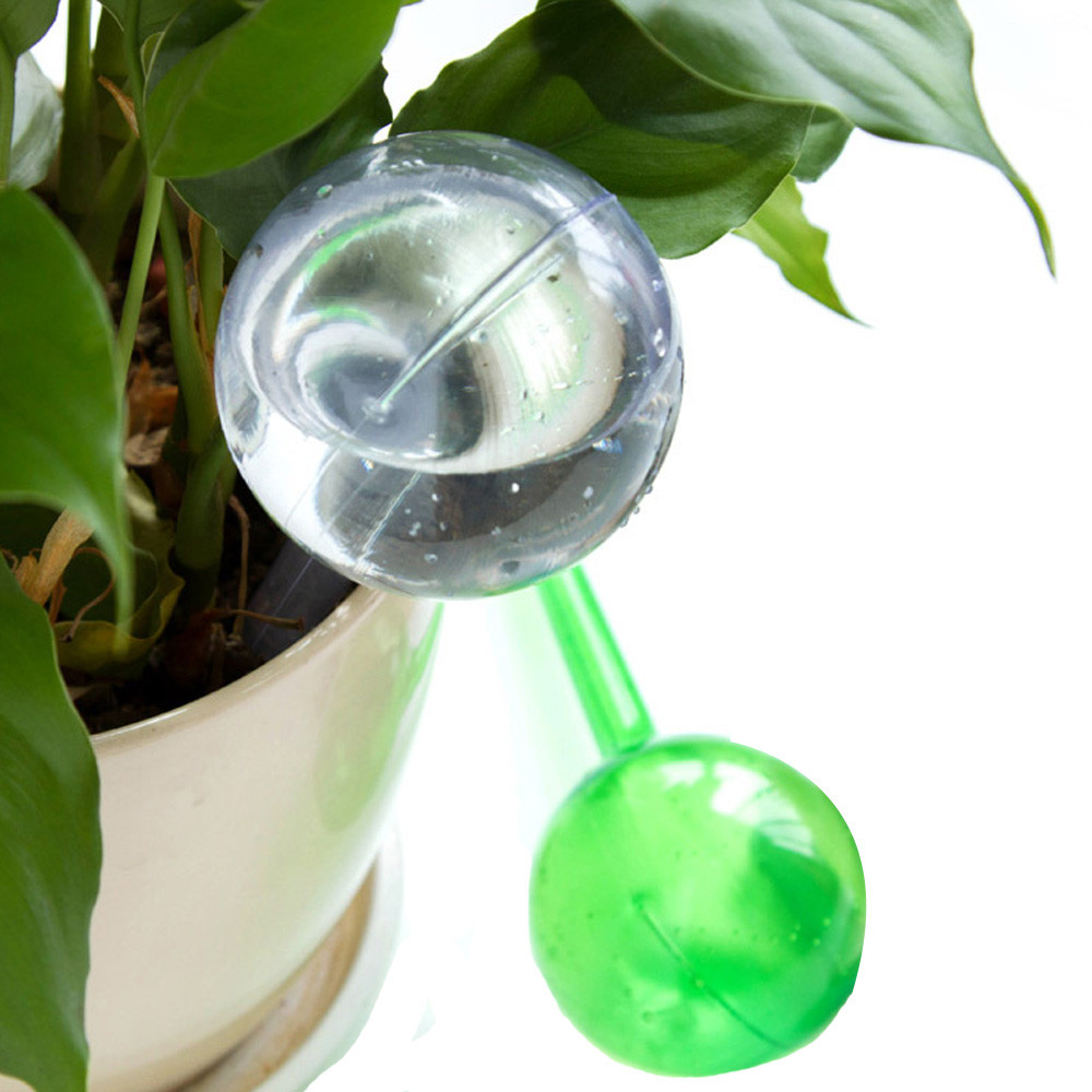 Automatic Watering Device green clear PVC Houseplant Plant Pot Bulb Globe Garden House Waterer plant waterer tool image