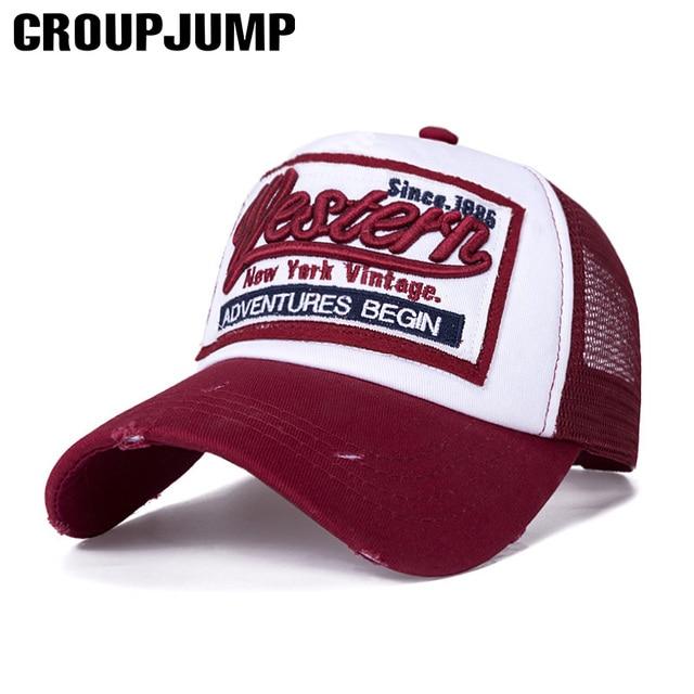 2019 New Summer Baseball Cap Embroidery Mesh Cap Hats For Men Women Gorras  Hombre hats Casual efc67dc5ec54