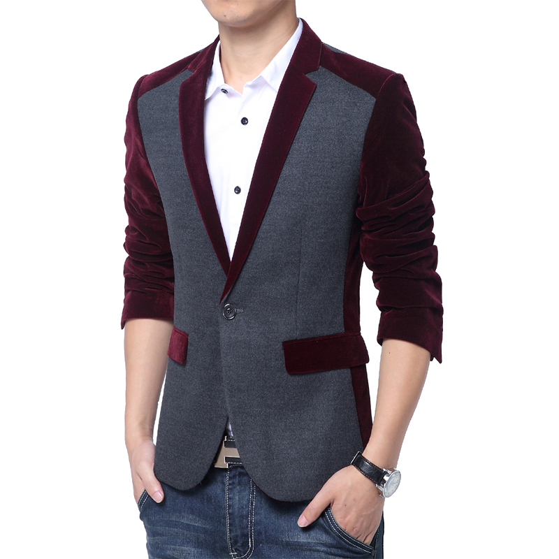 Red Velvet Blazer For Mens