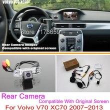 Для Volvo V70 XC70 2007 ~ 2013/RCA & Оригинальный Экран Совместимость/автомобильная Камера Заднего вида Комплектов/HD Резервное Копирование Обратный камера